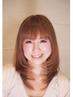 明るい白髪染め専用カラー(ブロー込み)